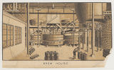 10 small lithographs showing interior of beer manufacturing plant